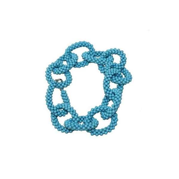 Bracciale in pasta turchese ad anelli