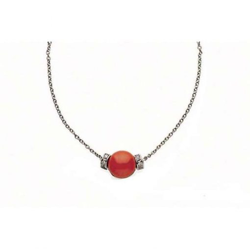 Collier con corallo, brillanti e oro-236