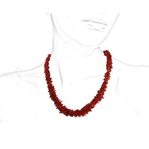Collana di Corallo Rosso Naturale-321