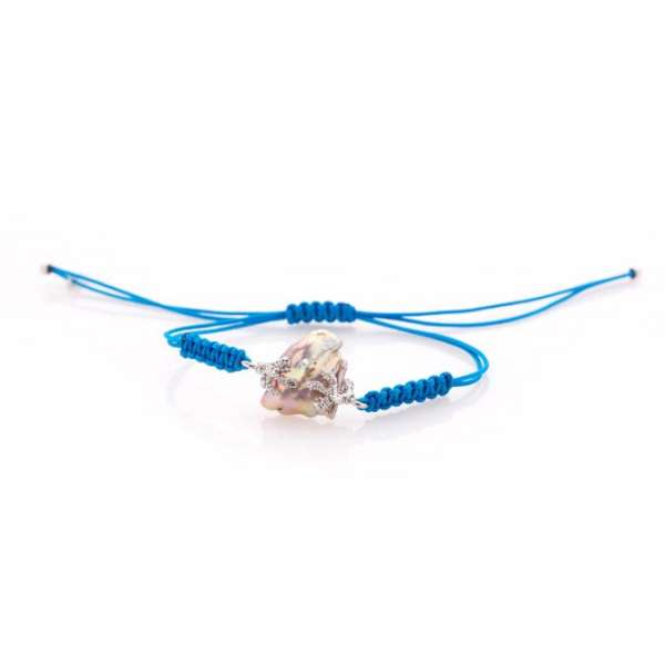 Bracciali con perla di fiume barocca-278