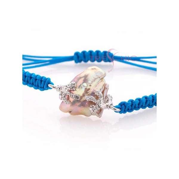 Bracciali con perla di fiume barocca-279