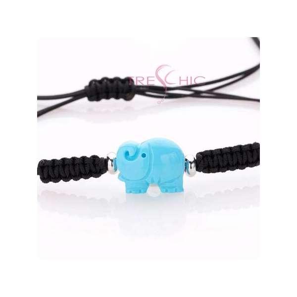 """Bracciali con """"elefante"""" in turchese e argento-294"""
