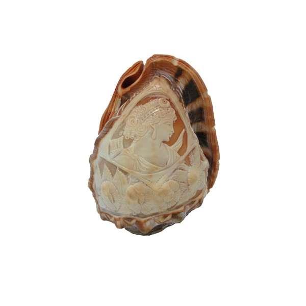 Abat-jour con conchiglia corniola incisa a mano