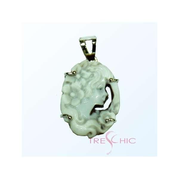 Ciondolo in argento con Cammeo-331